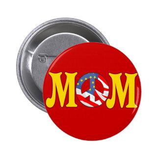 T-shirts et cadeaux de paix pour la maman badge rond 5 cm