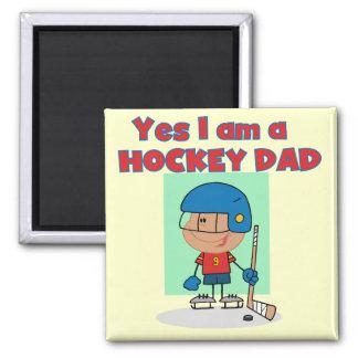 T-shirts et cadeaux de papa d hockey aimant pour réfrigérateur