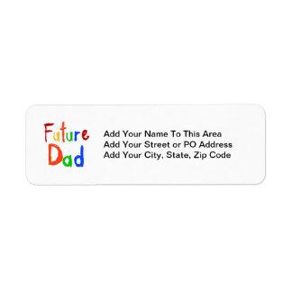 T-shirts et cadeaux de papa des textes d'enfant étiquette d'adresse retour