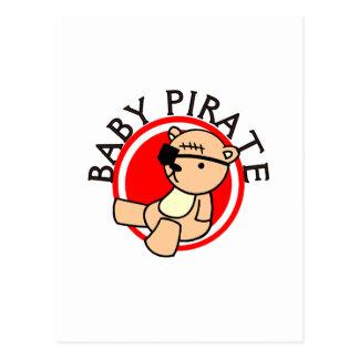 T-shirts et cadeaux de pirate de bébé cartes postales