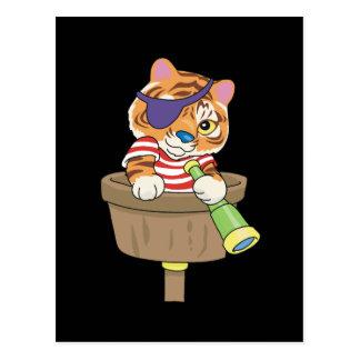 T-shirts et cadeaux de pirate de chat cartes postales