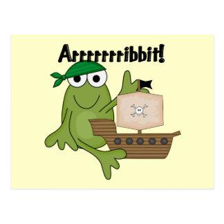 T-shirts et cadeaux de pirate de grenouille carte postale