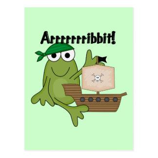T-shirts et cadeaux de pirate de grenouille cartes postales