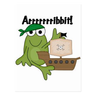 T-shirts et cadeaux de pirate de grenouille d Arrr Carte Postale