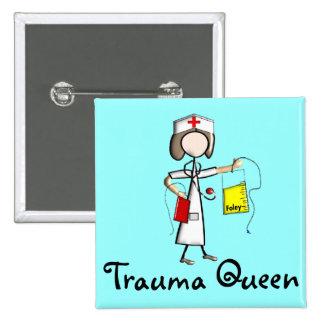 """T-shirts et cadeaux de """"reine de traumatisme"""" d'in badge avec épingle"""