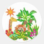 T-shirts et cadeaux de safari adhésifs ronds