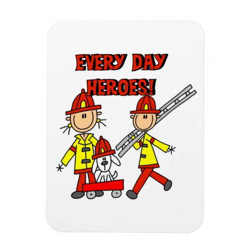 T-shirts et cadeaux de sapeurs-pompiers de héros d magnet rectangulaire