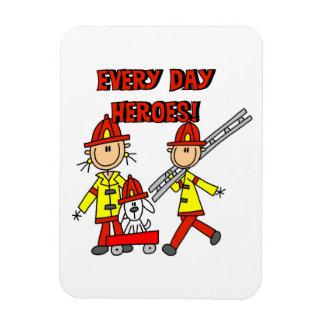 T-shirts et cadeaux de sapeurs-pompiers de héros magnet rectangulaire