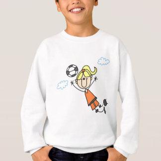 T-shirts et cadeaux de saut du football de fille