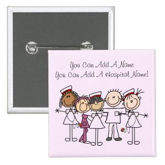 T-shirts et cadeaux de semaine d'infirmières badge carré 5 cm