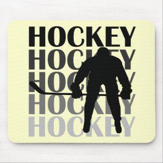 T-shirts et cadeaux de silhouette d'hockey tapis de souris