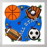 T-shirts et cadeaux de sports d'All Star Posters