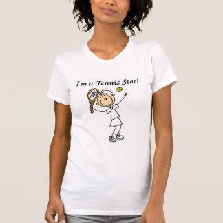 T-shirts et cadeaux de star du tennis de fille