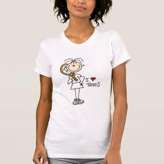 T-shirts et cadeaux de tennis d'amour de la fille