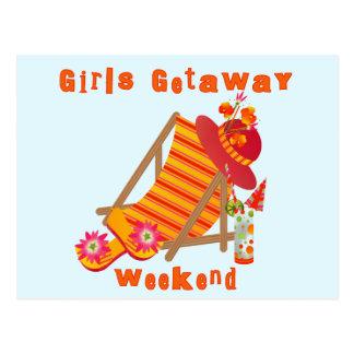 T-shirts et cadeaux de week-end de fuite de filles carte postale