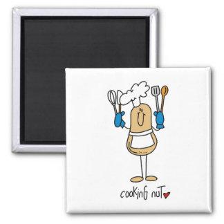 T-shirts et cadeaux d'écrou de cuisine aimants pour réfrigérateur
