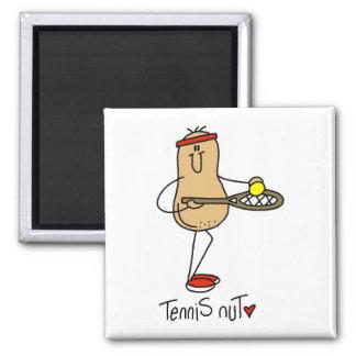 T-shirts et cadeaux d'écrou de tennis magnets pour réfrigérateur