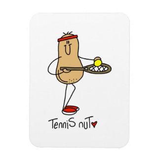 T-shirts et cadeaux d'écrou de tennis magnet en vinyle
