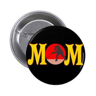 T-shirts et cadeaux d'hockey pour la maman badge rond 5 cm