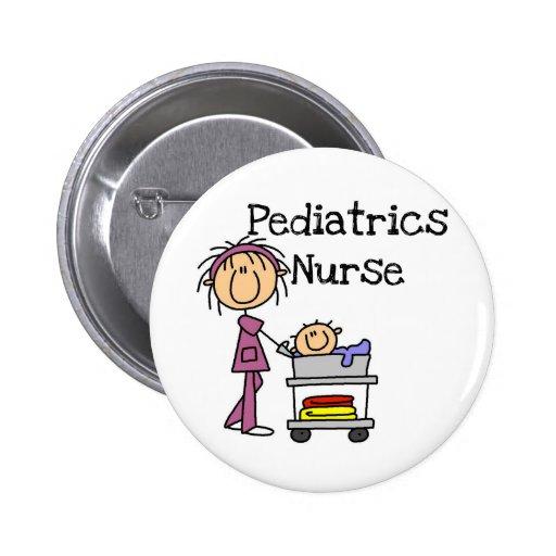 T-shirts et cadeaux d'infirmière de pédiatrie badge