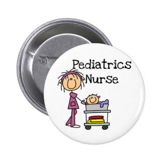 T-shirts et cadeaux d'infirmière de pédiatrie badge rond 5 cm