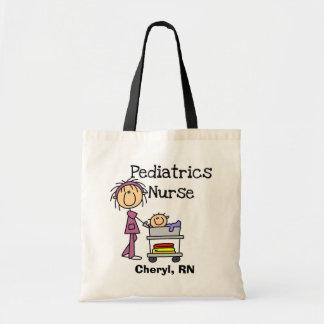 T-shirts et cadeaux d'infirmière de pédiatrie sac de toile