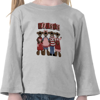 T-shirts et cadeaux d'ours de Valentine de baisers