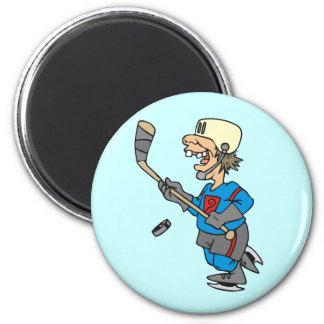 T-shirts et cadeaux drôles de joueur de hockey de magnets pour réfrigérateur