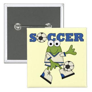 T-shirts et cadeaux du football de grenouille badges