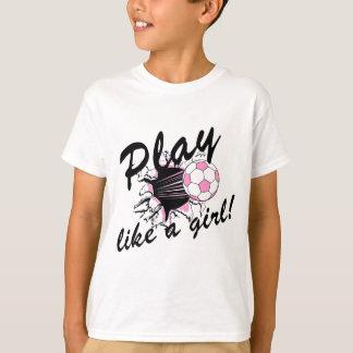 T-shirts et cadeaux du football des filles