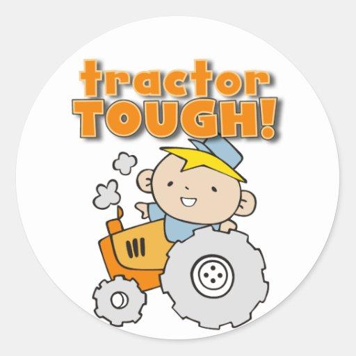 T-shirts et cadeaux durs de tracteur autocollant rond
