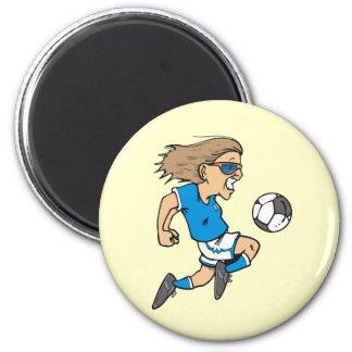T-shirts et cadeaux femelles d étoile du football magnets pour réfrigérateur