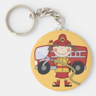 T-shirts et cadeaux femelles de sapeur-pompier porte-clés
