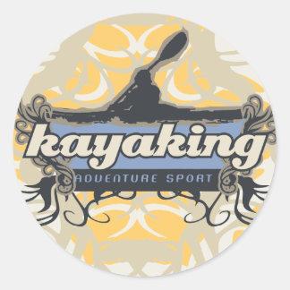 T-shirts et cadeaux Kayaking de sport d aventure Adhésif Rond