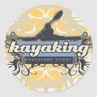 T-shirts et cadeaux Kayaking de sport d'aventure Adhésif Rond
