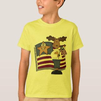 T-shirts et cadeaux patriotiques d'orignaux