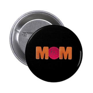 T-shirts et cadeaux pour la maman de tricotage badge rond 5 cm