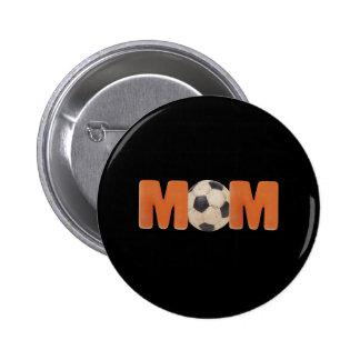 T-shirts et cadeaux pour la maman du football badge rond 5 cm