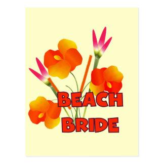 T-shirts et cadeaux tropicaux de jeune mariée de cartes postales