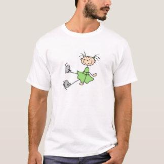 T-shirts et cadeaux verts de patineur artistique