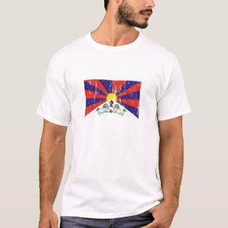 T-shirts et habillement tibétains de drapeau