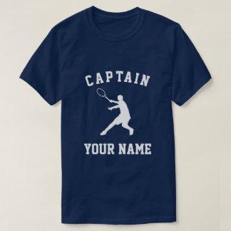 T-shirts faits sur commande de capitaine de tennis