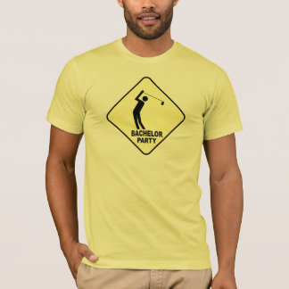 T-shirts jouant au golf d'enterrement de vie de
