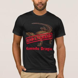 T-shirts mis en danger de dragon de Komodo