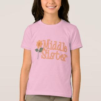 T-shirts moyen de soeur de marguerite jaune
