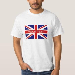 Personnalisé Brodé Royaume-Uni Polo Shirt avec Drapeau de l/'Union Jack