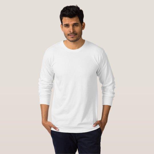 T-shirt manches longues jersey fin pour hommes, Blanc