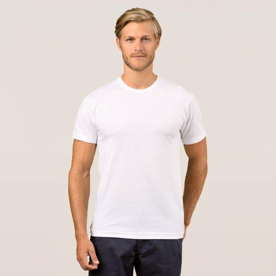 T-shirt pour homme en coton mélangé, Blanc