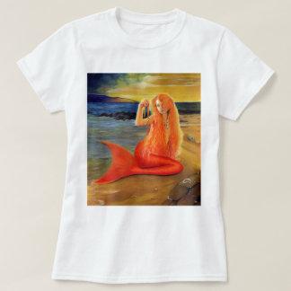 T-shirts principal de coucher du soleil de sirène