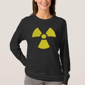 T-shirts radioactif d'obscurité de symbole